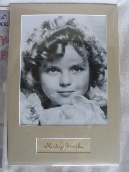 Scarce ink signed 1930s Shirley Temple signature on page from autograph boo