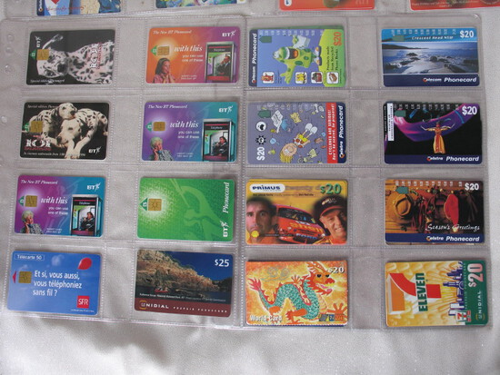 Travelcard & Phonecard Collections:- 110+ P/cards include Telstra/Telecom,
