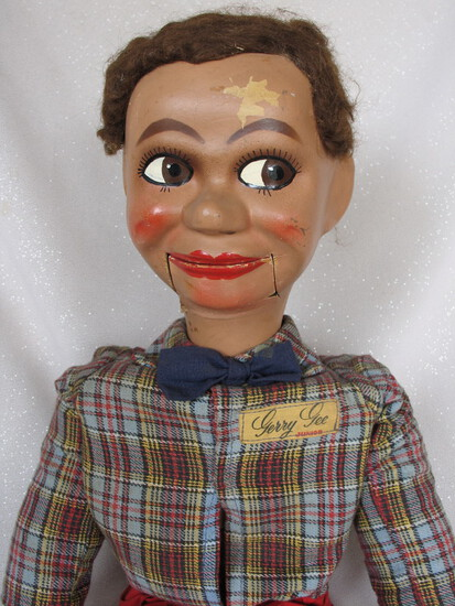 All original L.J. Sterne Gerry Gee 1960s Ventriloquist doll. Gerry Gee with