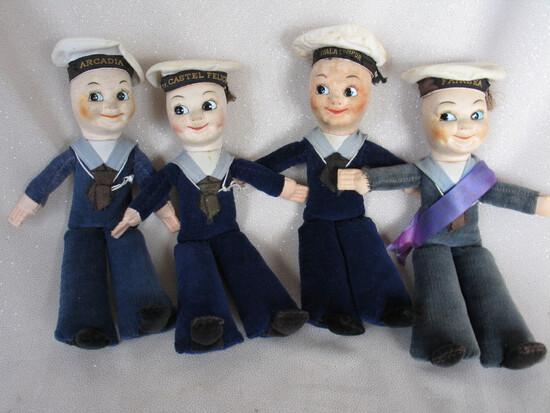 Nine Peggy Nisbet 'Empire Sailors' 1950s-70s. Canberra, Oriana, Fairsky, Fa