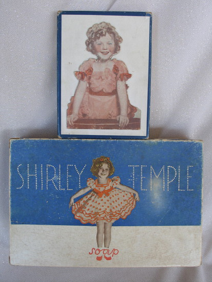 Mixed Shirley Temple 1930s collectibles:- empty 1930s Kerks Guild ST Soap T