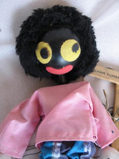 English 1950s Pelham Golly marionette puppet 23cm in very good original con