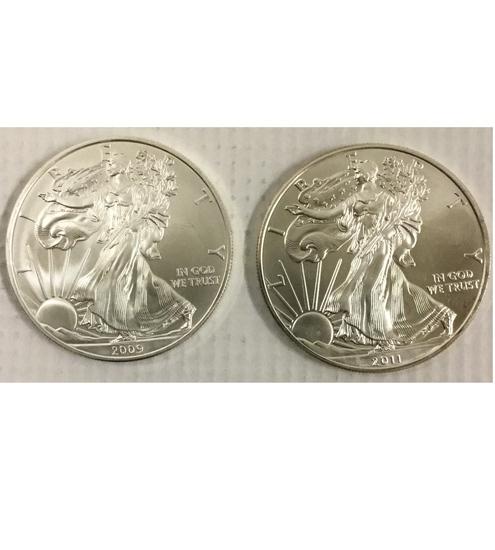 U.S American Eagles Coins 2)