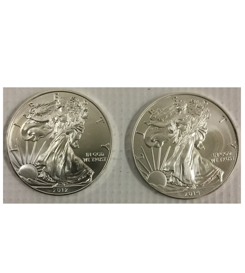 2 American Eagle Coins
