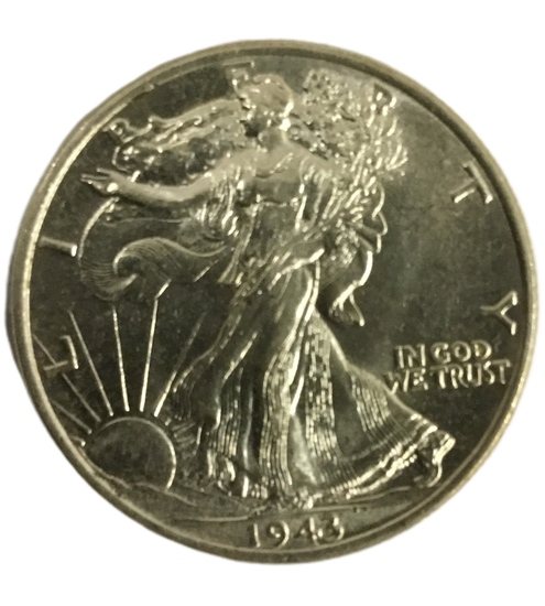 1943 Philadelphia walking liberty Half Dollar