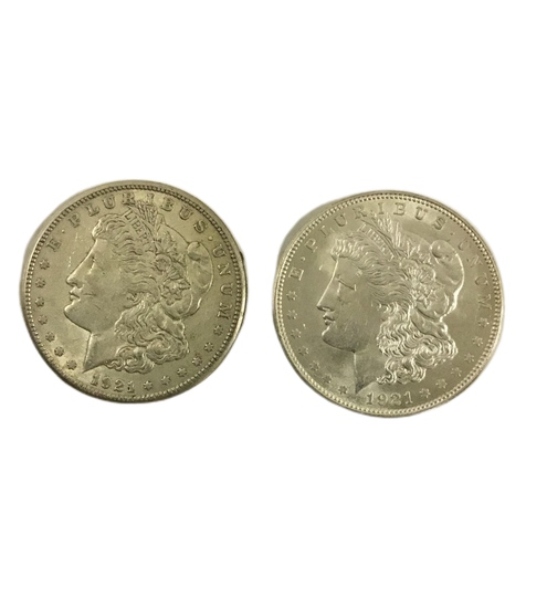 2 x Morgan US Dollar