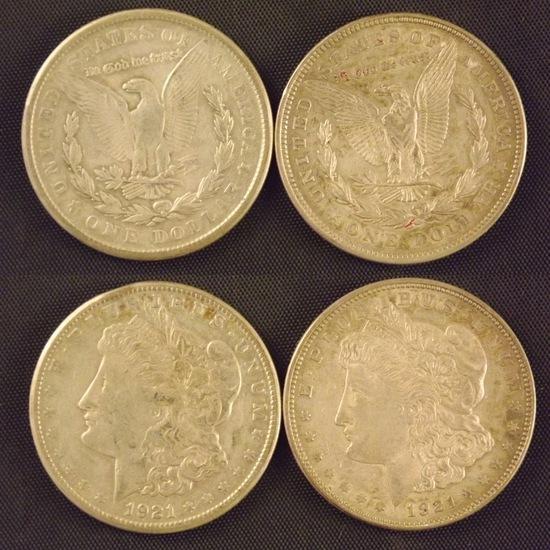 2 U.S Morgan dollars 1921-Phil and 1921 SF