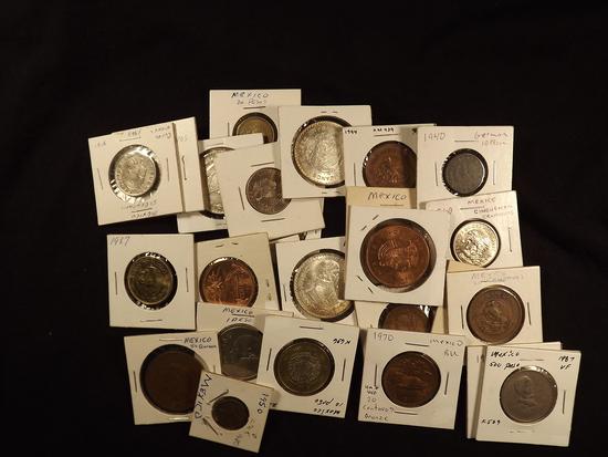 26 Mexican Coins