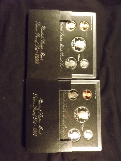 2 U.S Silver Proof Sets