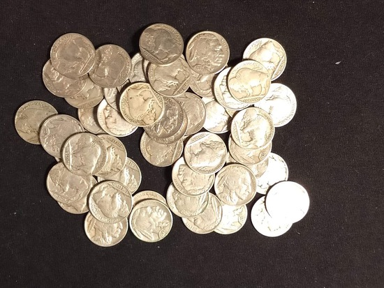 50 BUFFALO NICKELS