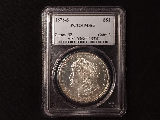 PCGS SLABBED MS63 1878 SF MORGAN DOLLAR