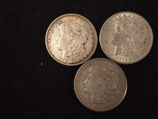 3 U.S MORGAN DOLLARS
