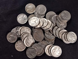 FIFTY BUFFALO NICKELS WITH DATES