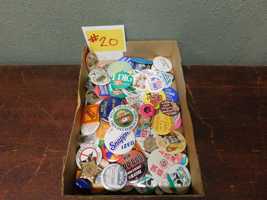 Over 50 Vintage Pins