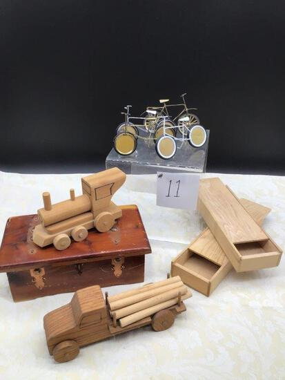 TRINKET BOXES AND SMALL METAL BIKE PICTURE FRAMES