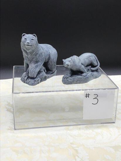 Volcanic Ash Animal Sculptures