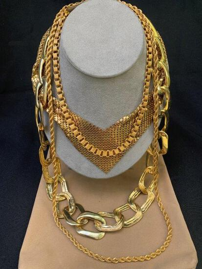 GOLD FILLED AND COSTUME JEWELRY NECKLACES