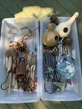 LARGE LOT OF WIND CHIMES