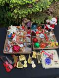 LARGE LOT OF INSTRUMENT ORNAMENTS AND OTHERS
