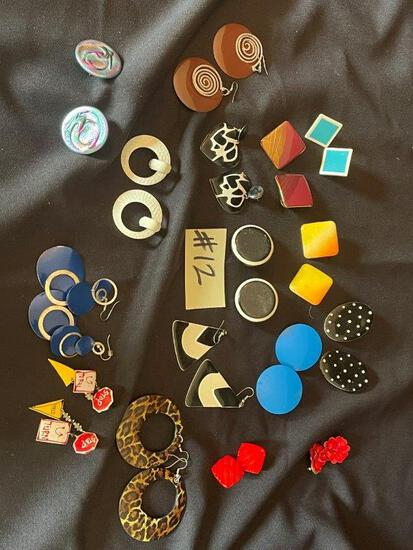 """SQUARE, ROUND AND TRIANGLE SHAPED EARRINGS"""","""