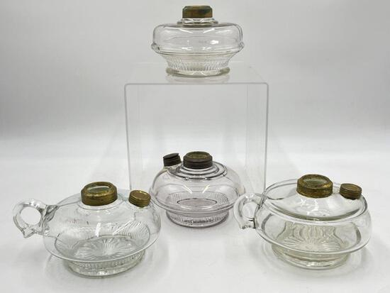 FOUR OIL LAMP INSERTS