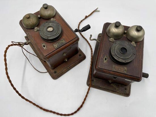 TWO ANTIQUE TELEPHONES