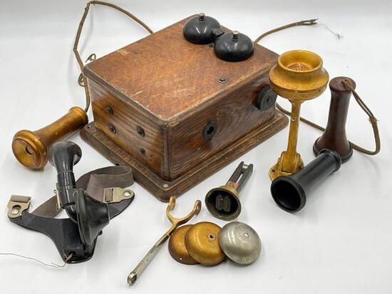 ANTIQUE TELEPHONE AND PARTS