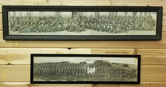 TWO FRAMED MILITARY PHOTOS