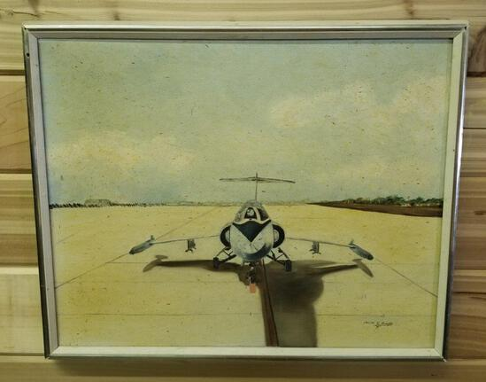 AIRPLANE PAINTING SIGNED