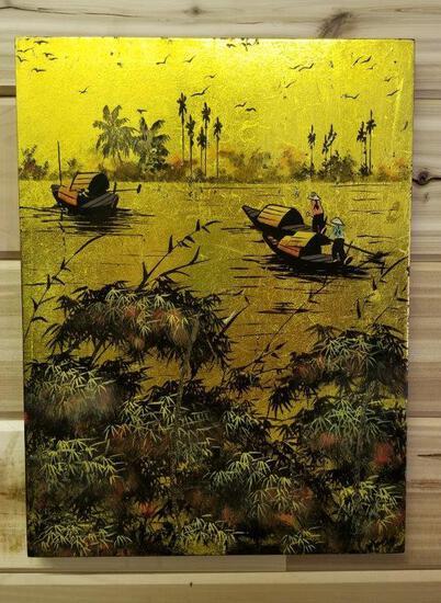 ORIENTAL GOLD FOILED ART