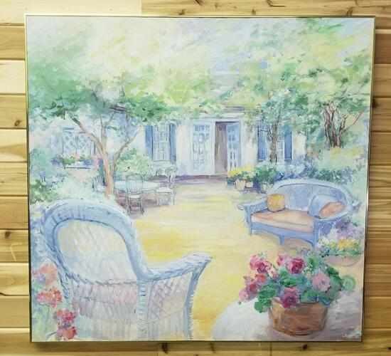 ORIGINAL PAINTING TITLED: SUMMER ON THE PATIO