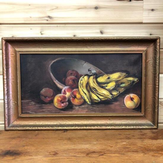 ARTWORK - ORIGINAL PAINTING OF FRUIT, NO ARTIST SIGNATURE