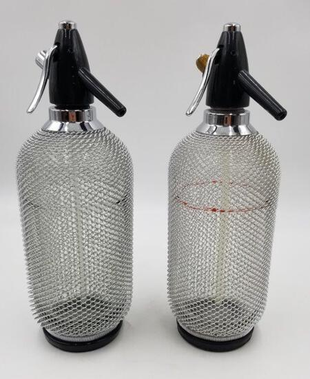 VINTAGE COLLECTIBLES- PAIR OF SELTZER BOTTLES