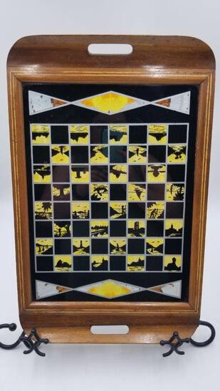 COLLECTIBLE- REAL BUTTERFLY WING ART TRAY