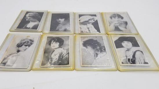 COLLECTABLES - EIGHT PHOTOS OF SILENT SCREEN STARS