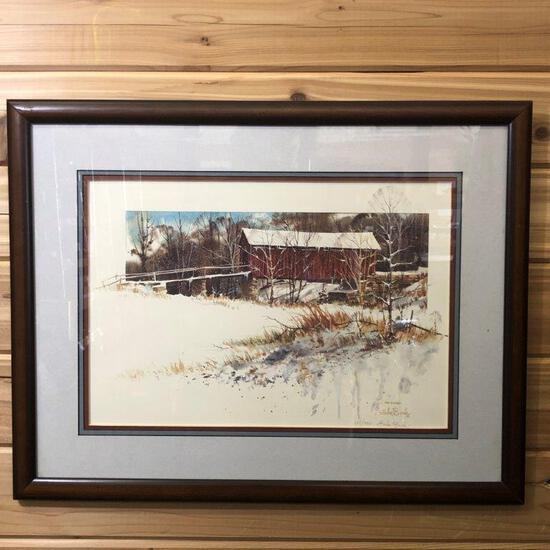 """ARTWORK - """"COVERED BRIDGE AT BEAN BLOSSOM"""" BY LUKE BUCK"""