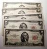 (8) 1953 $2.00 NOTES VG-AU