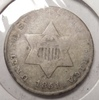 1851 TY 1 THREE CENT SILVER G/VG