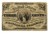 1863 THREE CENT FRACTIONAL NOTE F/VF
