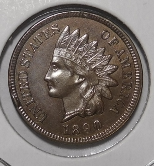 1890 INDIAN CENT CH BU RED BROWN
