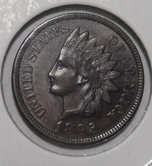 1893 INDIAN CENT CH BU BROWN
