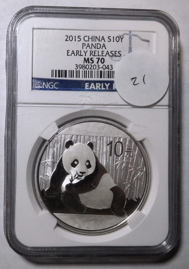2015 PANDA 10 YEN 30TH EARLY RELEASE NGC MS-70