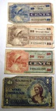 LOT OF FOUR SERIES 661 MILITARY PAYMENT CERTIFICATES