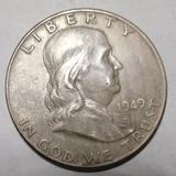 1949 FRANKLIN HALF DOLLAR CH AU FULL BELL LINES