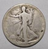 1919-S WALKER HALF DOLLAR G/VG