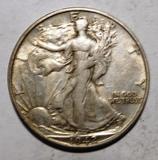 1942-S WALKER HALF DOLLAR XF/AU