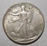 1943-S WALKER HALF DOLLAR XF/AU