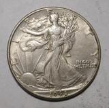 1944 WALKER HALF DOLLAR XF/AU