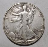 1947-D WALKER HALF DOLLAR VF