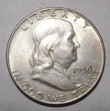 1950 FRANKLIN HALF DOLLAR AU